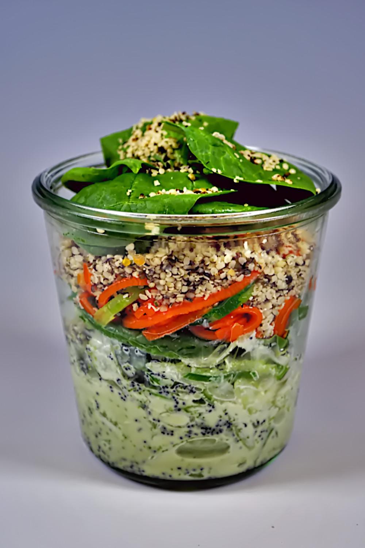 Salat im Glas - Asian Poppy Spirit