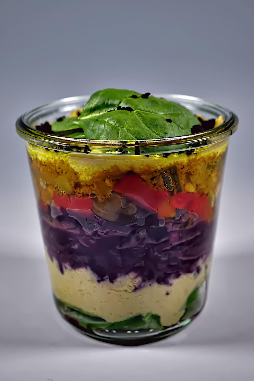 Salat im Glas - Blue Moon