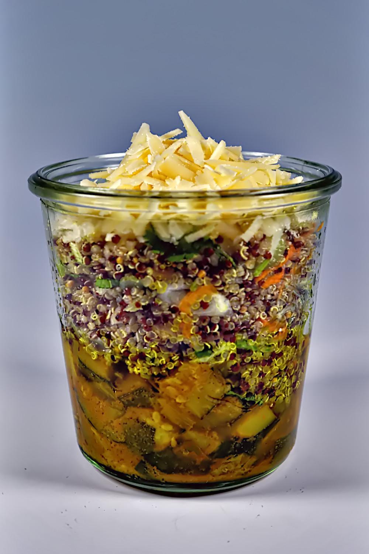 Salat im Glas - Goat Garden