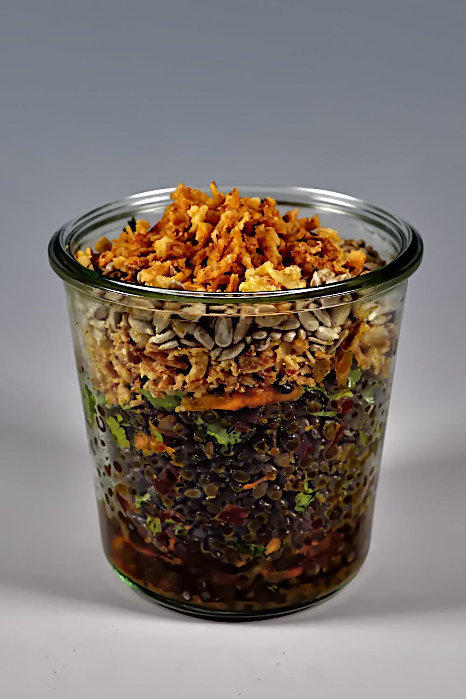 Salat im Glas - Rainbow Veganz